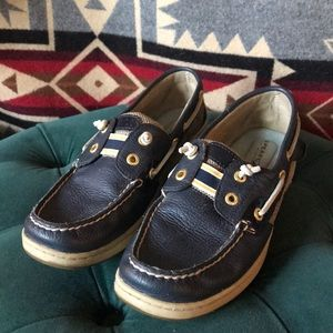 Sperry top sider Navy blue boat shoes EUC
